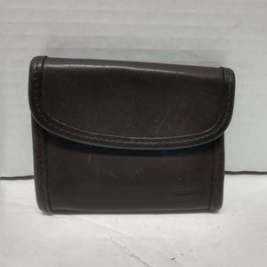 Vintage Coach Mini Wallet Brown Leather